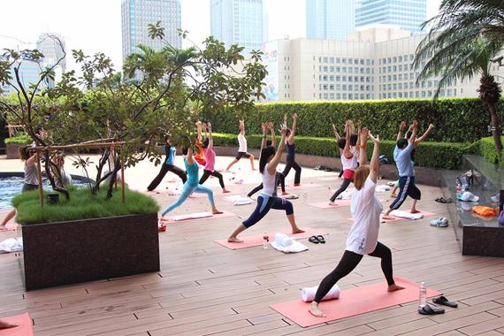 Outdoor Yoga at Grand Hyatt